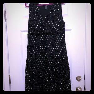Style & Co. Sleeveless, Polka-dot, Peasant dress.
